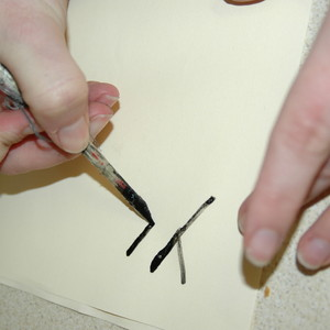 Write with Roman ink