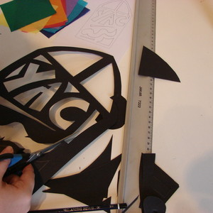 Make a stained glass window