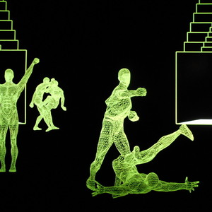 <div class='photo-title'></div><div class='photo-desc'>Projections of wrestlers in the Roman amphitheatre </div>