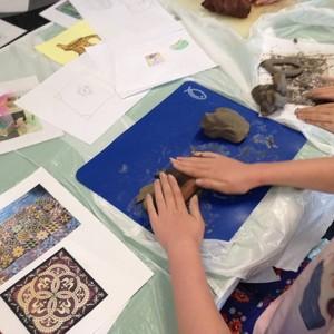 <div class='photo-title'>Medieval monks, pots and tiles</div>