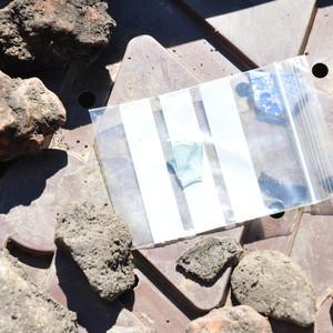 <div class='photo-title'>Roman glass fragment</div><div class='photo-desc'>(inside finds bag)</div>