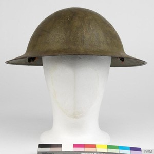 <div class='photo-title'>A Brodie helmet made in Sheffield</div><div class='photo-desc'>© IWM (UNI 12606)</div>