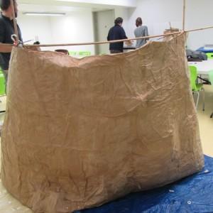 <div class='photo-title'>The cave wall</div><div class='photo-desc'>Members built their own cave out of papier mache.</div>