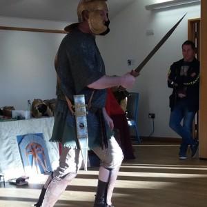 Roman soldier at launch of Museum of Farnham YAC
