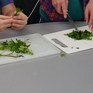 <div class='photo-title'>St Albans YAC</div><div class='photo-desc'>Cutting up herbs for the butter</div>